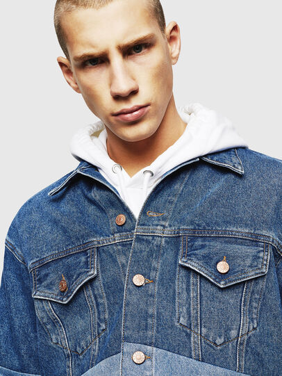 Diesel - D-PUF, Medium blue - Denim Jackets - Image 5