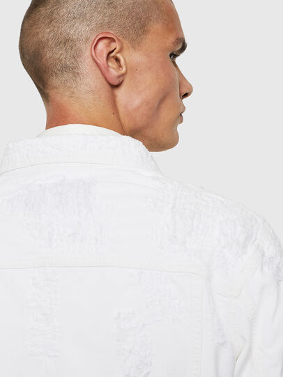 Diesel - NHILL, White - Denim Jackets - Image 5