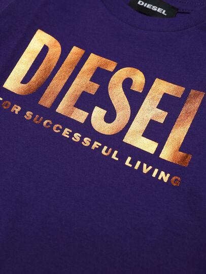 Diesel - TJUSTLOGOB-FL ML, Violet - T-shirts and Tops - Image 3