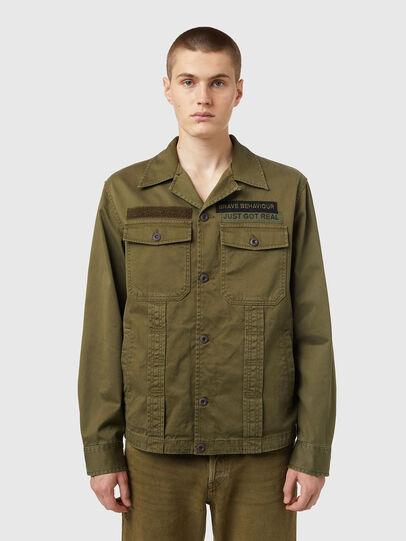 Diesel - J-FULLER, Military Green - Jackets - Image 1