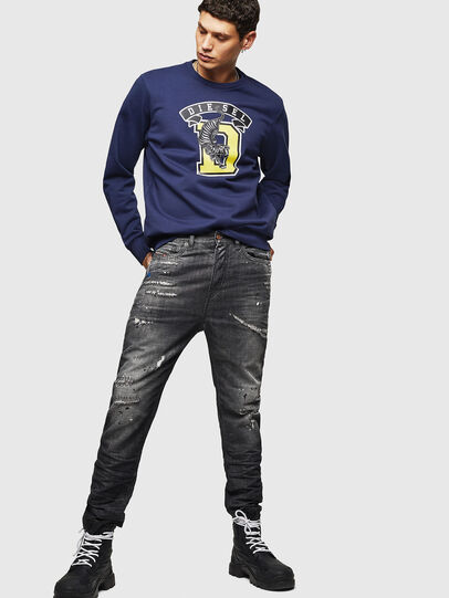 Diesel - S-GIR-B1, Blue - Sweaters - Image 4