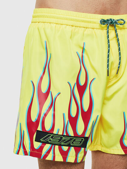 Diesel - BMBX-WAVE 2.017, Green Fluo - Swim shorts - Image 4