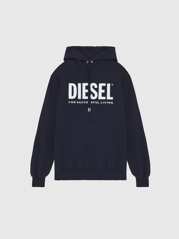 S-GIR-HOOD-DIVISION-, Dark Blue - Sweaters