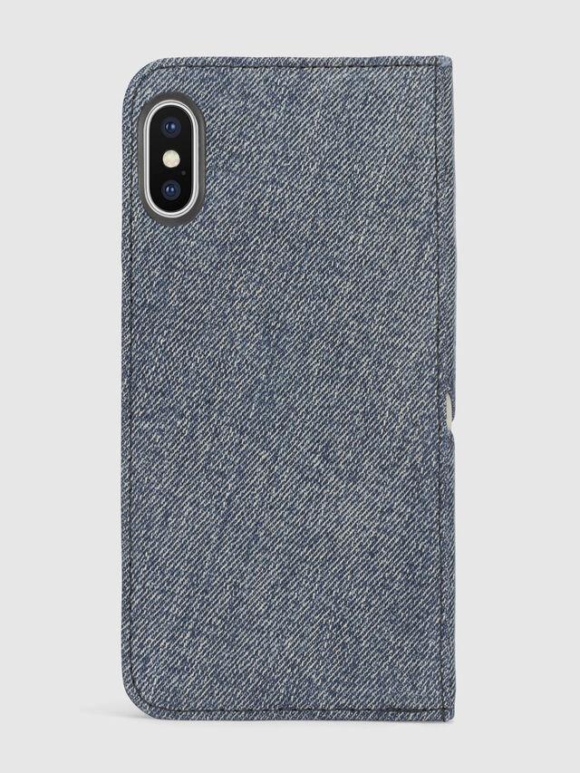 DENIM IPHONE X FOLIO, Blue jeans