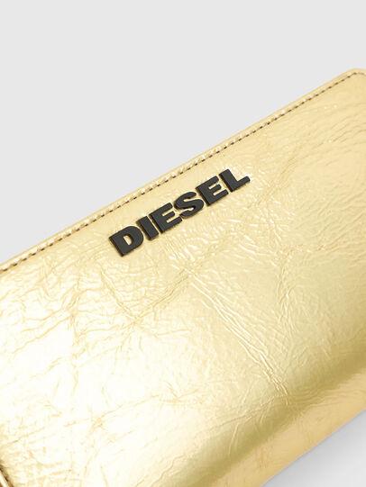 Diesel - GRANATO LCLS, Gold - Zip-Round Wallets - Image 4