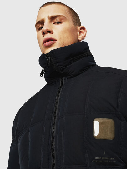 Diesel - W-PETR, Black - Winter Jackets - Image 3