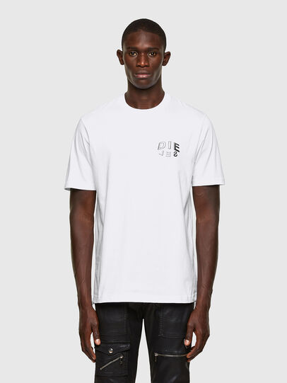Diesel - T-JUST-SLITS-A30, White - T-Shirts - Image 1