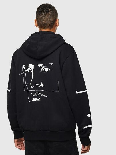 Diesel - S-GIRK-HOOD-ZIP-1, Black - Sweaters - Image 2