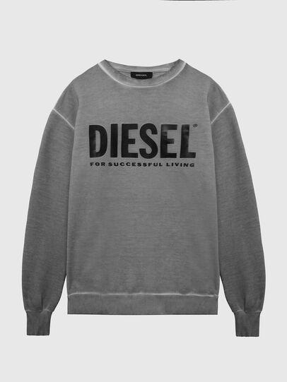 Diesel - S-GIR-DIVISION-LOGO, Dark grey - Sweaters - Image 1
