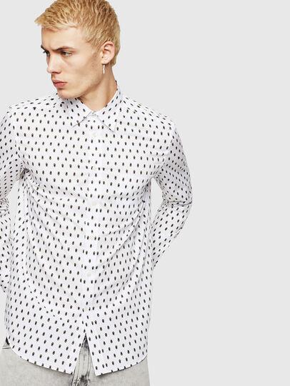Diesel - S-VEN-SKULL, White - Shirts - Image 1