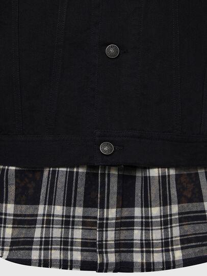 Diesel - NHILL-C, Black - Denim Jackets - Image 5