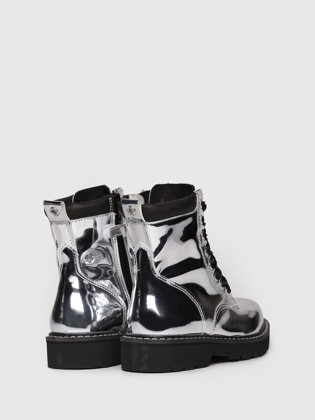 Diesel - HB LACE UP 15 YO, Silver - Footwear - Image 3
