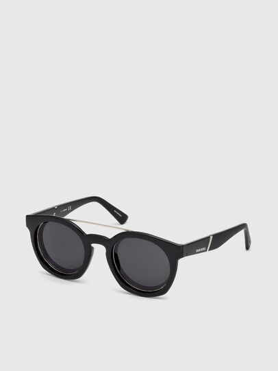 Diesel - DL0251, Bright Black - Sunglasses - Image 4