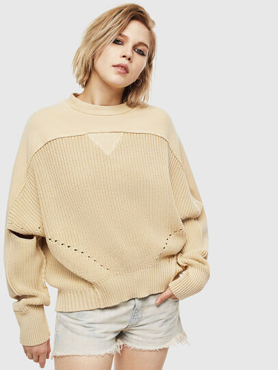 Diesel - M-SUNNY, Beige - Knitwear - Image 1