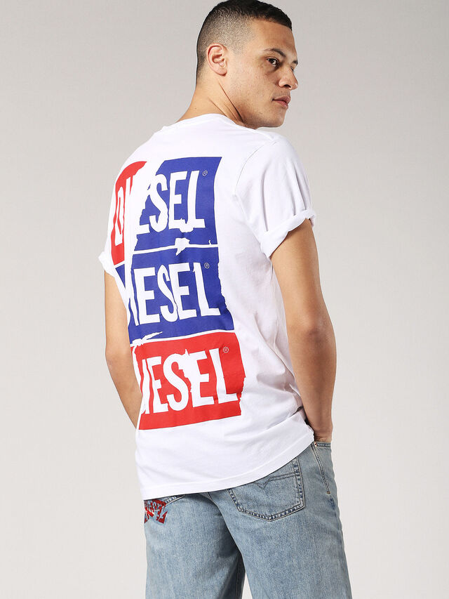 Diesel - T-JUST-ZC, White - T-Shirts - Image 1
