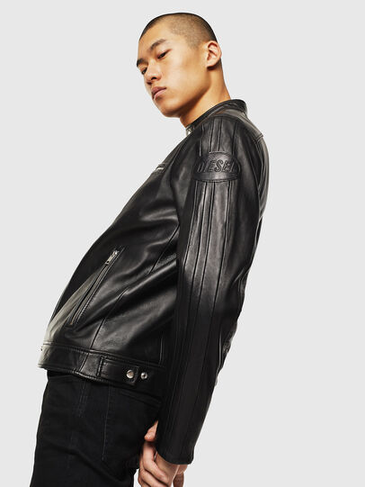 Diesel - L-BOY, Black - Leather jackets - Image 4
