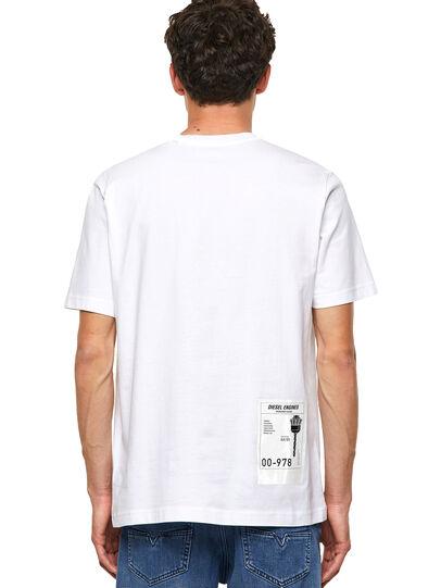 Diesel - T-JUST-B62, White - T-Shirts - Image 2
