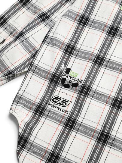 Diesel - D-GRADIENTCHECK, White/Black - Shirts - Image 9