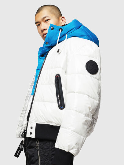 Diesel - W-ON, White - Winter Jackets - Image 4