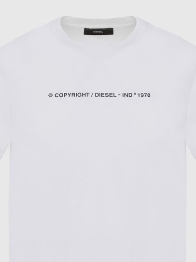 Diesel - T-SILY-COPY, White - T-Shirts - Image 3