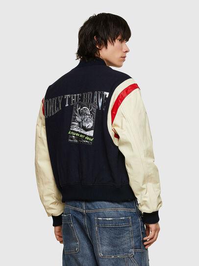 Diesel - L-COHEN, Blue/White - Leather jackets - Image 2