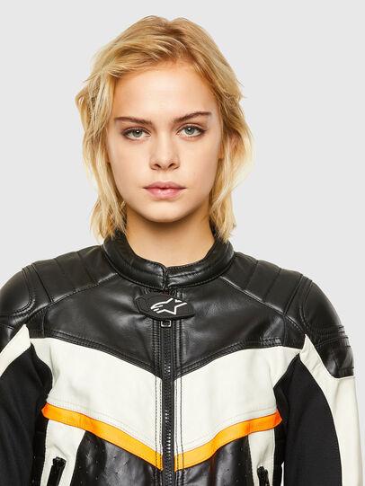 Diesel - ASTARS-LQUATTRO-B, Black - Leather jackets - Image 3