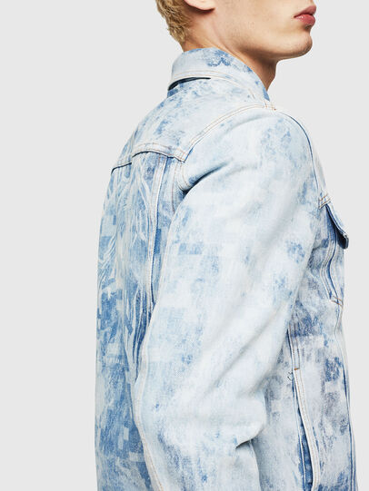 Diesel - NHILL, Light Blue - Denim Jackets - Image 5