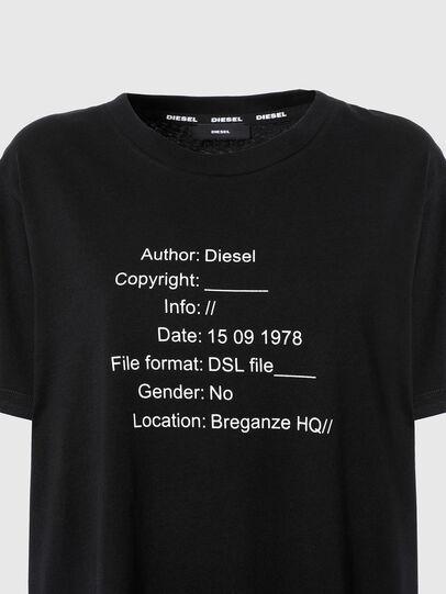 Diesel - UFTEE-ELODIE, Black - T-Shirts - Image 3