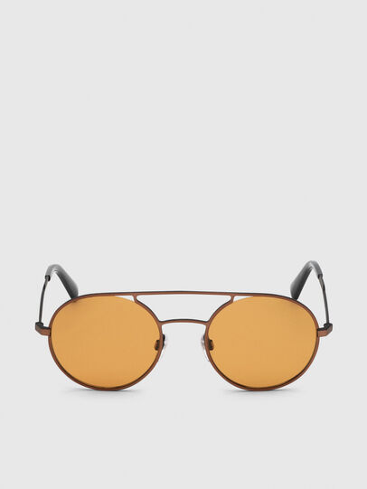 Diesel - DL0301, Orange/Black - Sunglasses - Image 1
