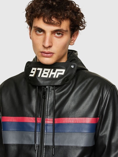 Diesel - L-CIRCLE, Black - Leather jackets - Image 3