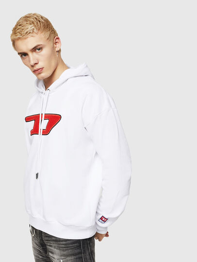 Diesel - S-DIVISION-D, White - Sweaters - Image 1