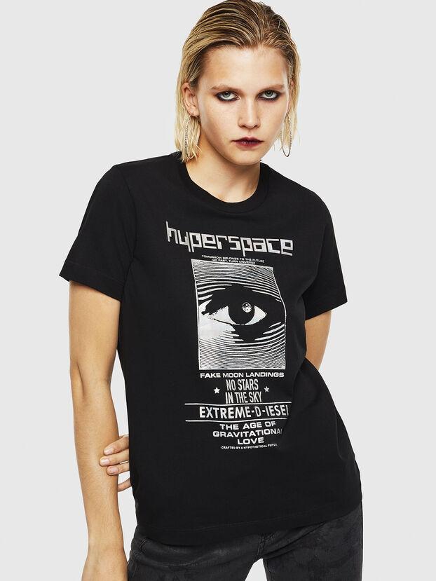 T-SILY-YB, Black - T-Shirts