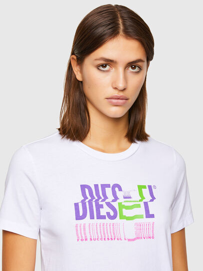 Diesel - T-SILY-K6, White - T-Shirts - Image 3