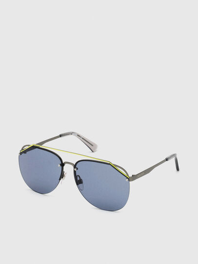 Diesel - DL0314, Grey/Blue - Sunglasses - Image 2