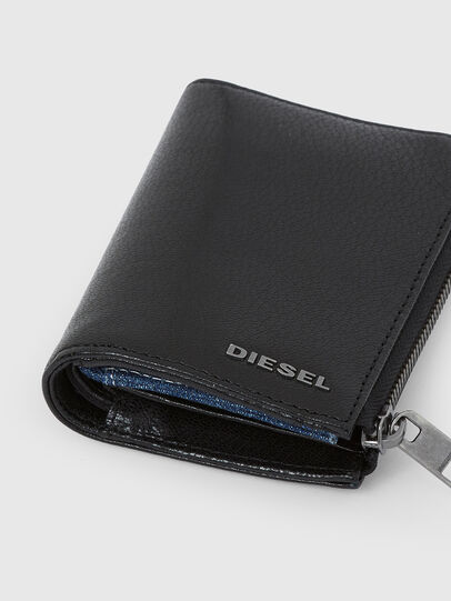 Diesel - L-12 ZIP, Black/Blue - Zip-Round Wallets - Image 5