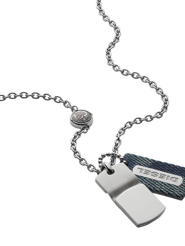 Diesel - NECKLACE DX0980, Blue Jeans - Necklaces - Image 2