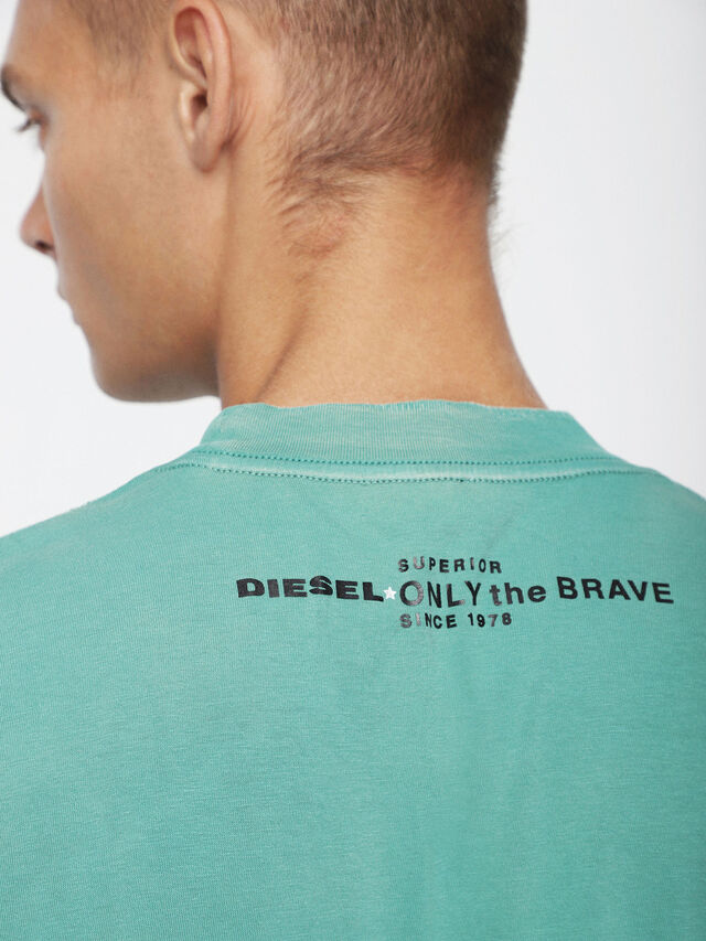 Diesel T-JOEY-T, Water Green - T-Shirts - Image 3