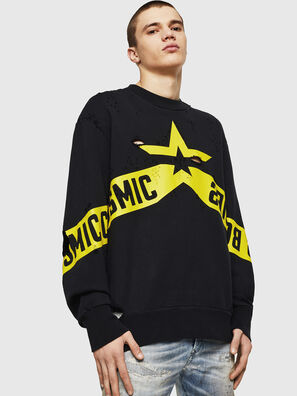 S-BAY-HOLES, Black/Yellow - Sweaters