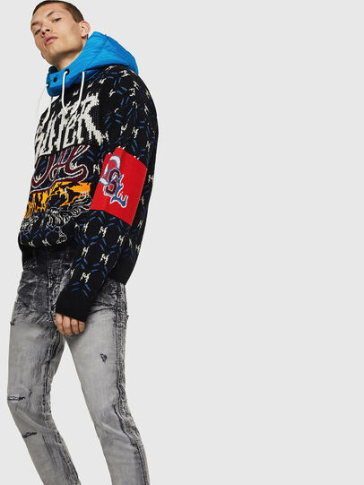 Diesel - D-Reeft JoggJeans 084AH, Black/Dark grey - Jeans - Image 4