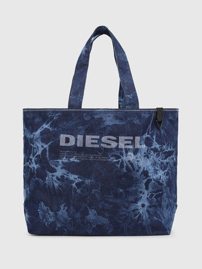 Diesel - D-THISBAG SHOP M, Blue - Shopping and Shoulder Bags - Image 1