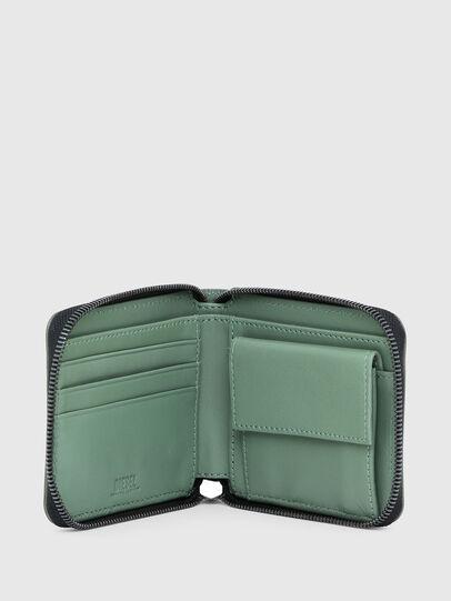 Diesel - HIRESH XS ZIPPI, Military Green - Zip-Round Wallets - Image 3