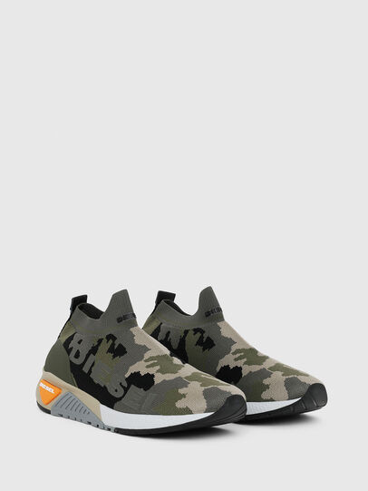 Diesel - S-KB ATHL SOCK II, Green Camouflage - Sneakers - Image 2