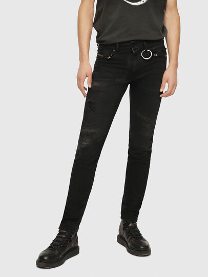 Diesel - Thommer 0090N, Black/Dark grey - Jeans - Image 1