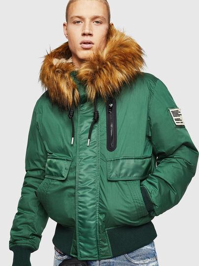 Diesel - W-BURKISK, Green - Winter Jackets - Image 1