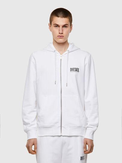 Diesel - S-GIRK-HOOD-ZIP-ECOL, White - Sweaters - Image 1