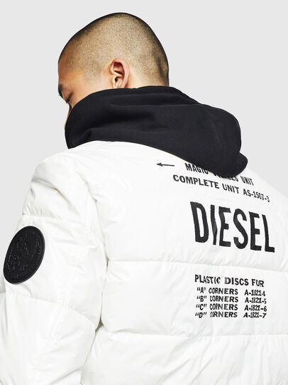 Diesel - W-ON, White - Winter Jackets - Image 5