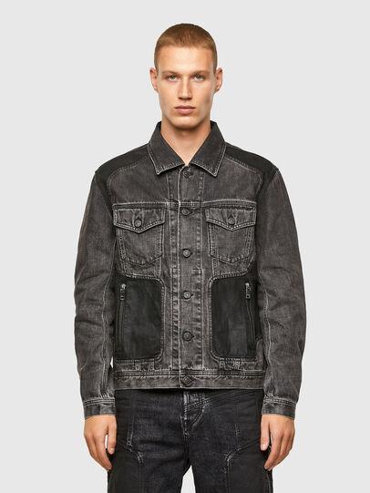 Diesel - NHILL-ROD-SP, Black - Denim Jackets - Image 1