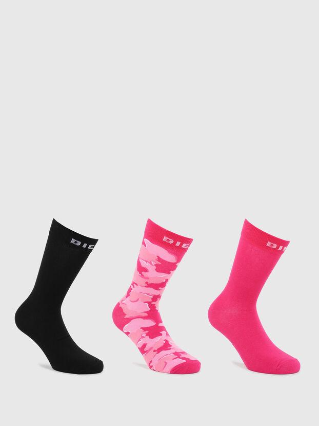 SKM-RAY-THREEPACK, Black/Pink - Socks