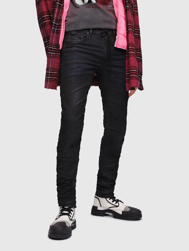 Diesel Thommer JoggJeans 0688U, Black/Dark grey - Jeans - Image 1