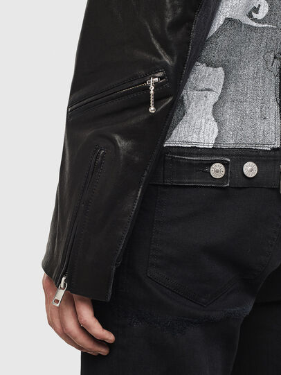 Diesel - D-LOSTY-SY, Black - Leather jackets - Image 6